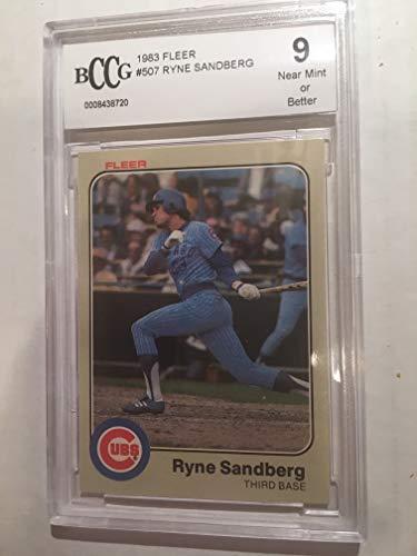 1983 Fleer #507 Ryne Sandberg BCCG 9 Rookie Chicago Cubs