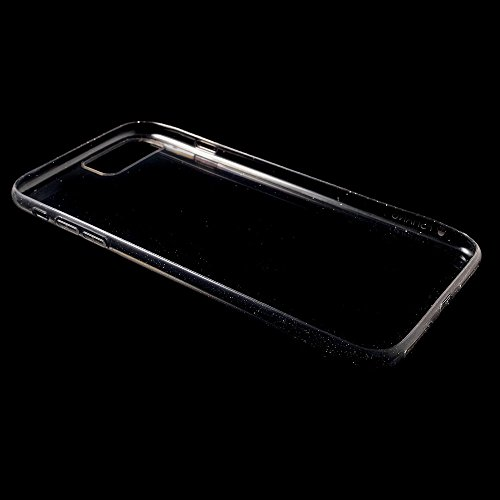 FSHANG Flash Powder Soft TPU Tasche Hüllen Schutzhülle Case für iPhone 7 Plus 5.5 Inch - Transparent Black