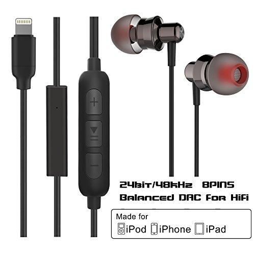 Earphones Lightning Certified Headphone Microphone