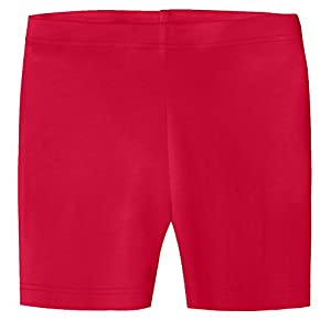City Threads Baby Girls Underwear Bike Shorts In All Cotton Perfect For SPD and Sensitive Skin Sports Dance School Uniform, Candy Apple, 2T