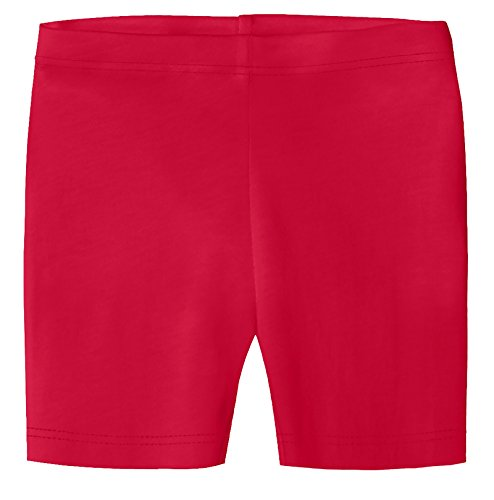 City Threads Baby Girls Underwear Bike Shorts In All Cotton Perfect For SPD and Sensitive Skin Sports Dance School Uniform, Candy Apple 14