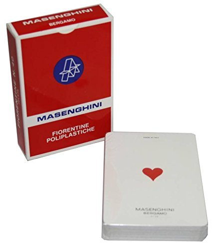 Fiorentine Poliplastificatei Plasticized Italian Playing Cards Deck of 40 cards Masenghini Italian Import Teodomiro Dal Negro SpA con unico socio