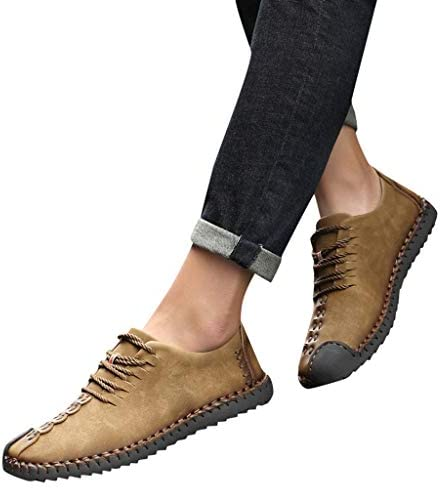 [해외]남성용 옥스포드 가죽 신발 레이스업 워킹 드라이빙 로퍼 슬립온 통기성 좋은 야외 마모 방지 신발 미국:9.5 / 남성용 옥스포드 가죽 신발 레이스업 워킹 드라이빙 로퍼 슬립온 통기성 좋은 야외 마모 방지 신발 미국:9.5