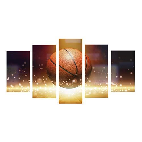 (Basketball Sports Canvas Wall Art Boys Bedroom Decor Baskeball Decor For Sports Room & Game Room (Unframed))