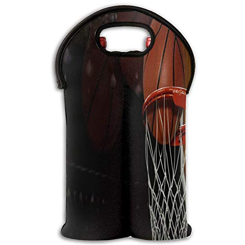 Wine Bag Basketball Courts 2 Bottle Red Wine Tote Bag Insulated Padded Water Handle Bag -