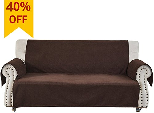 Homluxe Premium Non-Slip Pet Dog Couch Covers Living Room Sofa Slipcovers Furniture Protector (Loveseat, Coffee) - Large 2 Seat Sofa