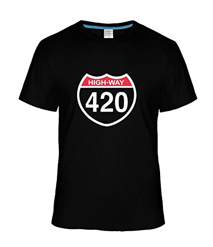 Beatles Rock Men's Geek Highway 420 t shirt black (Sign Highway Atlanta)