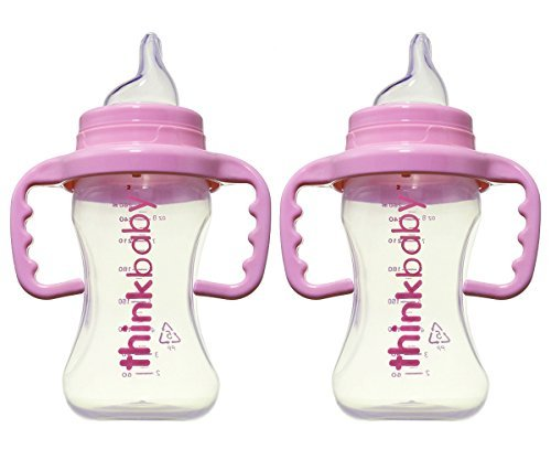 Thinkbaby BPA Free No Spill Sippy Cup, 2 Pack (Pink) ()