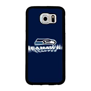 Samsung Galaxy S6 case Cartoon Seattle Seahawks NFL Football Team Logo Team Logo Sports for Men Design Hard Plastic Snap on Accessories Protective Case Cover for Samsung Galaxy S6