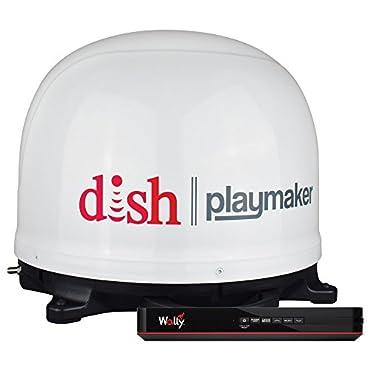 Winegard PL7000R DISH Playmaker HD Portable Satellite Antenna with Wally HD Satellite Receiver Bundle- White