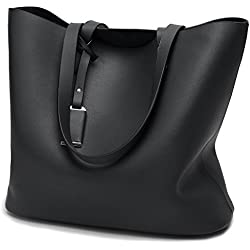 Cadier Womens Designer Purses and Handbags Ladies Tote Bags, Black