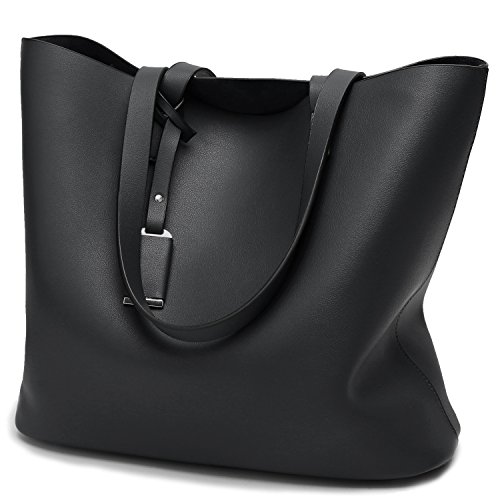 Cadier Womens Designer Purses and Handbags Ladies Tote Bags, (Designer Black Handbag)