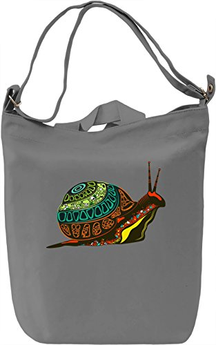 Snail Borsa Giornaliera Canvas Canvas Day Bag| 100% Premium Cotton Canvas| DTG Printing|