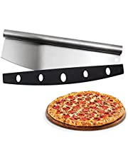 """Senfhome Pizza Cutter - 14"""" Premium Pizza Rocker Blade with Cover, Heavy Duty 304 Stainless Steel Blade and Non-Slip Comfort Handle Ideal for Pizza, Pies, Waffles Dough Cookies"""