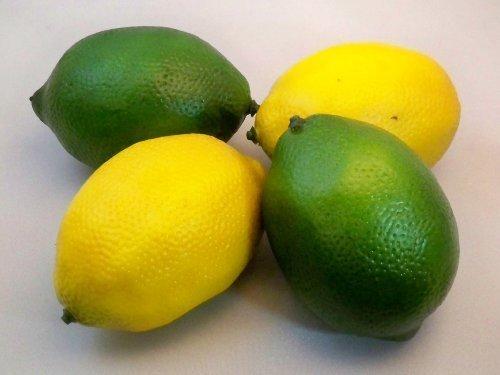 DierCosy 2 Best Artificial Lemons & 2 Best Artificial Limes Decorative Fruit by Best Artificial