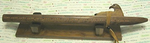Native American Flute - Solid Figured Walnut Wood - Key of F - Hand Made - Highest Quality - Awesome sound