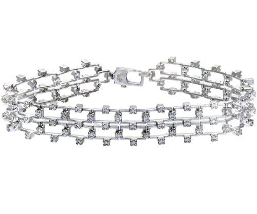 Citerna - SFBT1303W - Bracelet Femme - Plaqué Rhodium/Argent 925/1000 13.0 Gr - Oxyde de zirconium