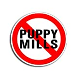 NO PUPPY MILLS - Anti - Window Bumper Laptop Sticker