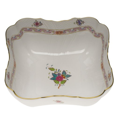 Herend Chinese Bouquet Multicolor Square Salad Plate