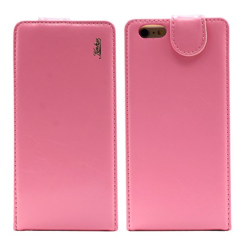 Iphone 6 plus 6s plus (5.5 inch) Ultra-Soft Second Layer PU Mix Light Pink Leather Flip Case Cover with Two Card Slot for Apple Iphone 6 plus 6s plus (5.5 inch) by G4GADGET®