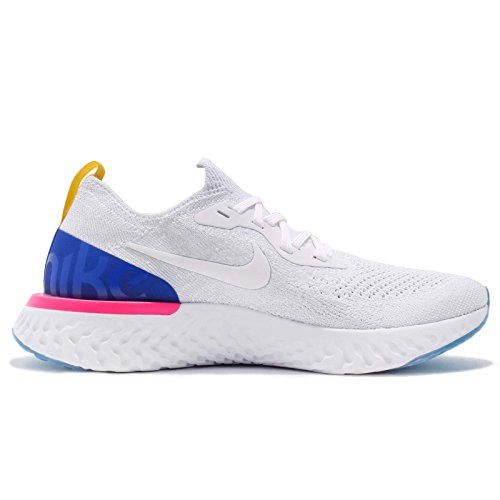 Nike Womens Wmns Epic Reageer Flyknit, Wit / Racer Blauw Wit