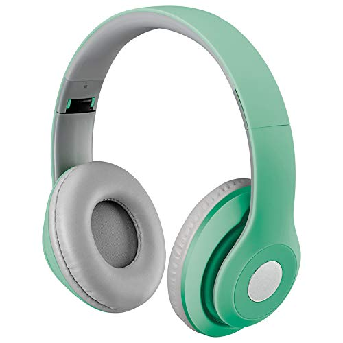 iLive Bluetooth On-Ear Headphones, Includes 3.5mm Audio Cable and Micro USB to USB Cable, Matte Teal (IAHB48MTL)