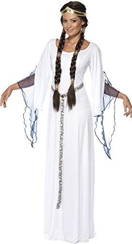 [Smiffy's Women's Medieval Maid Costume, Dress, Belt and Headpiece, Tales of Old England, Serious Fun, Size 10-12,] (Toddler Renaissance Costumes)