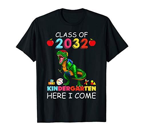 Son Boy Kid T-rex Kindergarten Here I Come Class of 2032 -