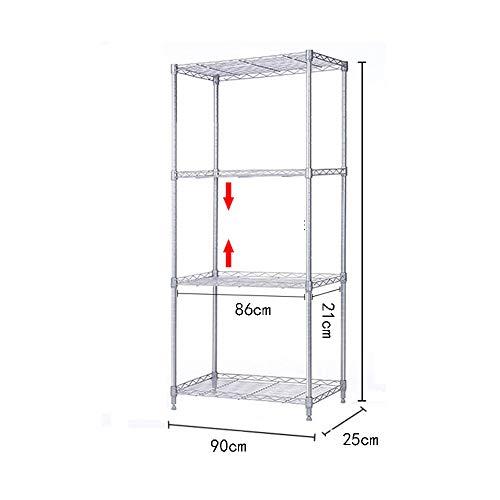Kitchen shelf HUO Storage Shelf 9025 Floor Storage Rack (Size : 100C) by Kitchen shelf (Image #3)