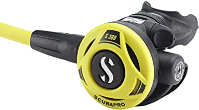 ScubaPro S360 Balanced Scuba Diving Octopus Regulator w/ Mouthpiece/Octo Holder