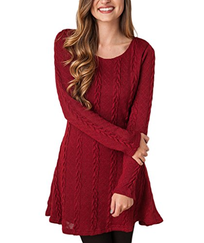 Mansy Womens Knitted Crewneck Sweater