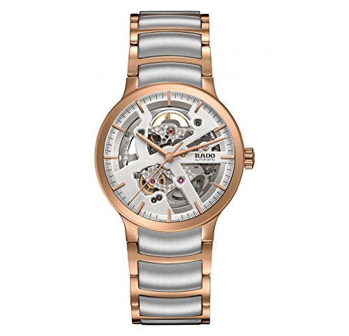 Rado-Centrix-Automatic-Silver-Skeleton-Dial-Two-tone-Mens-Watch-R30181103