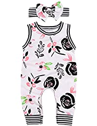 5f9bfe491 Infant Baby Girl Summer Rainbow Stripe One Piece Romper Bodysuit Clothes Set