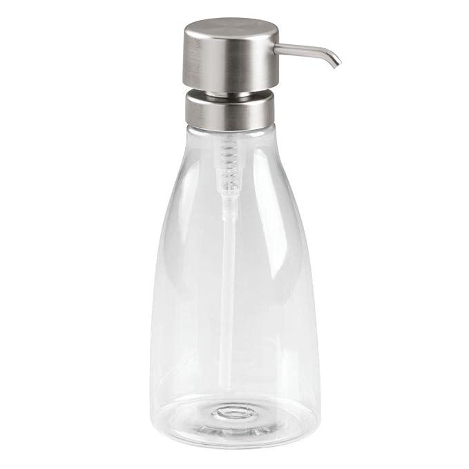 Dosificador de ba/ño y cocina ideal como dispensador de jab/ón con 414 ml mDesign Juego de 2 dispensadores de espuma arena//bronce Elegante dosificador de jab/ón en espuma de cristal