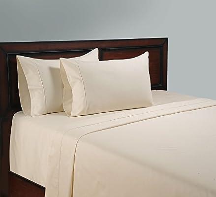 Juego de sábanas completo/doble de 1000 hilos algodón egipcio 1000TC, color marfil (bolsillo profundo).: Amazon.es: Hogar