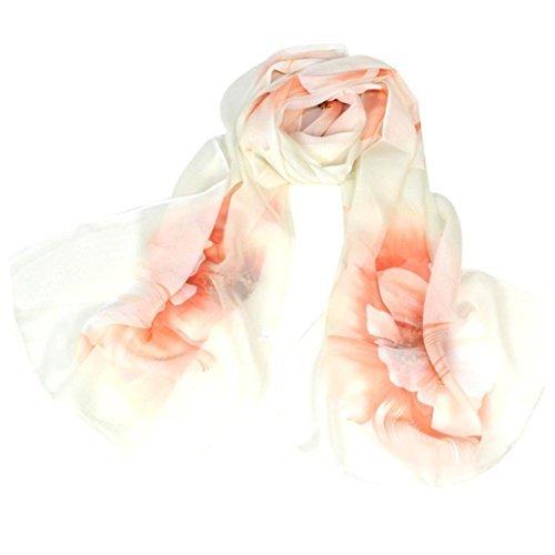 Chiffon Scarf, Malltop New Fashion Women Beautiful Flower Pattern Printing Shawl Wrap Scarves