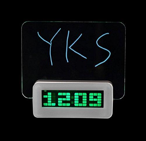 Green LED Fluorescent Message Board Digital Alarm Clock Calendar Night Light Modem LED Alarm