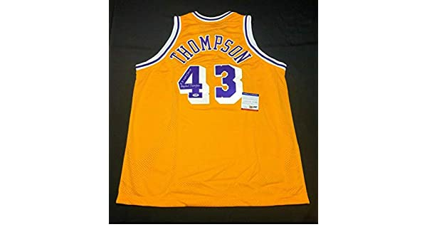 89166856 Mychal Thompson Autographed Signed Memorabilia Los Angeles Lakers  Basketball Jersey 2X Nba Champ PSA/DNA at Amazon's Sports Collectibles Store