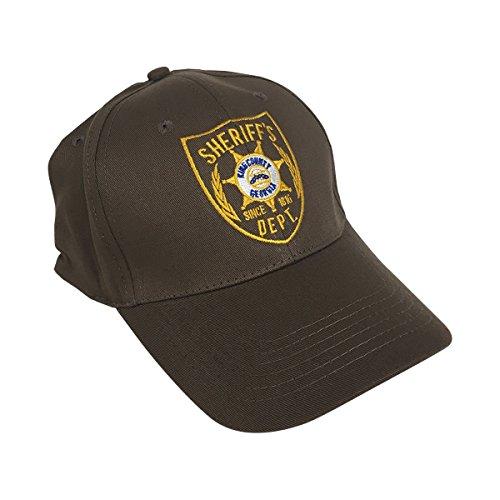 MyPartyShirt Sheriff Rick Grimes Brown Baseball Cap