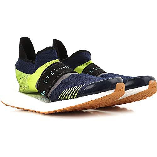 adidas by Stella McCartney Women's Ultraboost X 3D Sneakers, Night Indigo/Green/Granite, 9 Medium US