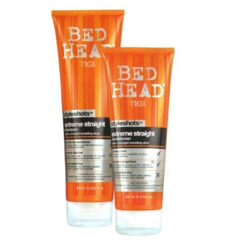 Shampoo Straight (TIGI Bed Head Styleshots Extreme Straight Shampoo (8.45 fl oz) and Conditioner (6.76 fl oz))