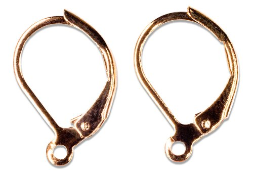 Cousin Jewelry Basics 9 by 16mm Euro Lever Earring, Rose Gold, 2-Piece
