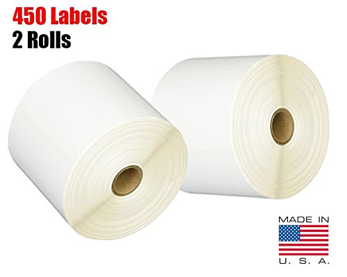 iMBAPrice 2 Rolls of 450 Label (USA Made) 4x6 Direct Thermal for Zebra 2844 ZP-450 ZP-500 ZP-505 Shipping Labels Perfect Roll for 1 INCH CORE Thermal Laser Printers by iMBAPrice (Image #4)