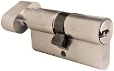 Cylindre /à bouton 40 x 40 mm Cl/és r/éversibles