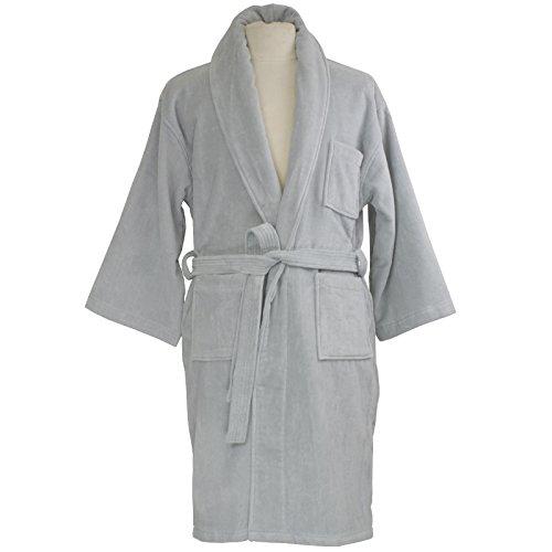 Cotton Terry Velour Shawl (alpine swiss Aiden Mens Cotton Terry Cloth Bathrobe Shawl Collar Velour Spa Robe Gry ML)