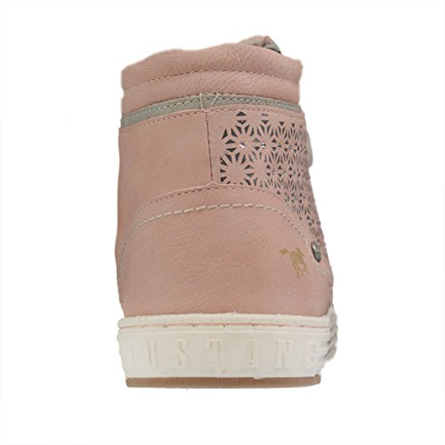 Lace Mustang Rosa Womens 1246 up Flats 502 CxZaxwq
