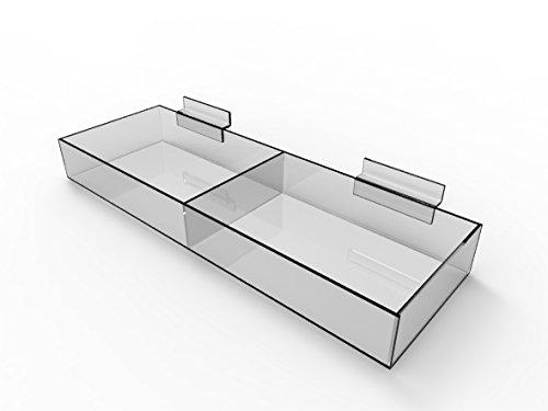 Fixture Displays Slatwall Clear Acrylic Bin 11709-15C 11709-15C