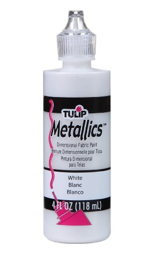 Metallic White Paint (Tulip Dimensional Fabric Paint 4oz Metallic White)