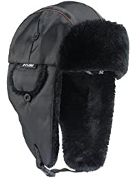 N-Ferno 6802 Thermal Winter Trapper Hat, Black, Large/X-Large