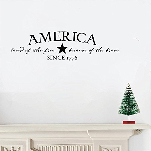 siuvm Vinyl Wall Sticker Mural Bible Letter Quotes America - Land of The Free